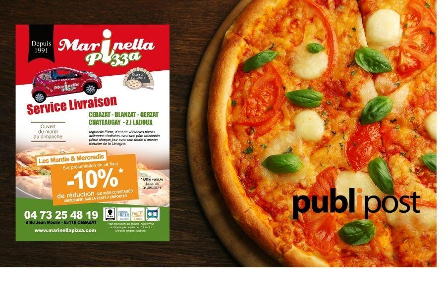 creation et impression marinella pizza cebazat